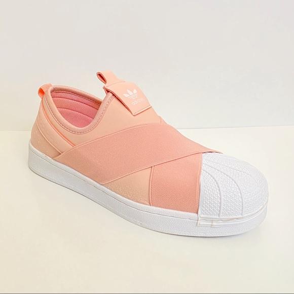 Adidas Superstar Peach Pink Slip On